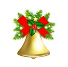 Xmas Bells, Isolated On White Background, Vector Illustration With Gradient Mesh