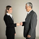 Multi_ethnic businesspeople exchanging business card