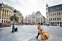 Grande place, Groote Markt, Bruxelles, Brussels, Belgium.
