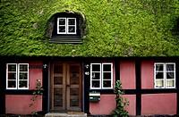 Denmark, Near Lejre, Half-timbered house