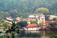 One of the most famous landmarks on Sri Lanka, Temple of the Tooth Dalada Maligava. This buddhist shrine in the city of Kandy contains relic of the Bu...