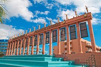 Las Americas beach Tenerife. Palace of Congress façade