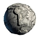 Dead Planet Earth without water _ the global ecological catastrophe, a fantastic assumption of the future