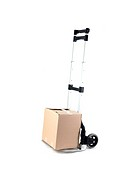 A removal trolley isolated against a white background