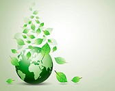 you love world and green leaf, to help keep your world.