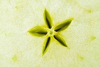 Macro food collection _ Green apple. Close up