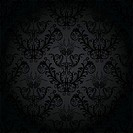 Luxury charcoal floral wallpaper vector illustration