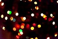 Christmas lights defocused multicolor background.