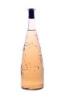 Wine bottle isolated on white background.