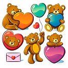 cartoon illustration of valentine cute bear for your valentine greeting