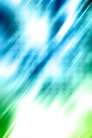 Blue and green blurred background. Copy space