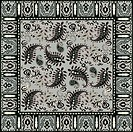 Bandana design, traditional paisley pattern