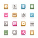 Business and office icons _ vector icon set
