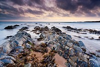 The rocky shores of Hartland Quay in North Devon, England, United Kingdom, Europe