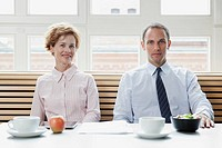 Business colleagues having a business lunch (thumbnail)