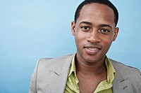 A handsome young black man, portrait (thumbnail)