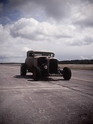 An old car on a race track