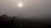 View of a foggy landscape (thumbnail)