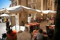 Arezzo main square, Tuscany Italy, Europe