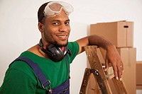 A man preparing to do some renovating, moving house