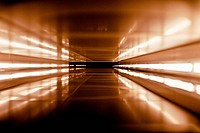 An abstract corridor in brown tones (thumbnail)