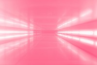 An abstract corridor in pink tones