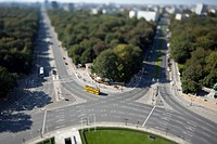 Berlin cityscape of the Tiergarten, Germany, tilt_shift