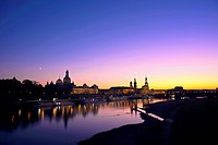 Dresden skyline at dusk