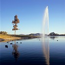 Geyser erupting at Fountain Hills, Arizona