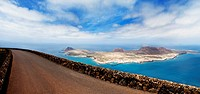 View from road of La Graciosa, Spain