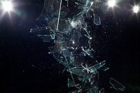 Shattered glass mid-air (thumbnail)