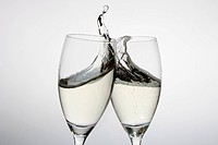 Toasting with two glasses of champagne (thumbnail)