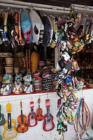 A souvenir stall, Mexico City, Mexico
