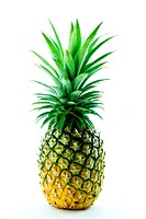 a fresh pineapple isolated on white background