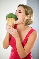 Young woman with diet concerns