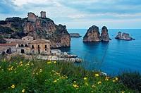 Tonnara  Former tuna factory  Scopello  Sicily, Italy.