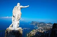 Ceasar Statue, Ceasar Augustus Hotel, Capri, Campania, Italy.