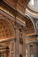 Saint Peter´s basilica interior in Vatican Rome Italy