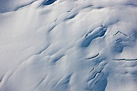 Aerial view of a glacier detail, Coastal Mountain Range north of Haines, Southeast Alaska, Summer