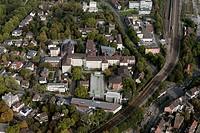 Aerial view, Augusta-Kranken-Anstalt Service GmbH, hospital, Bochum, Ruhr Area, North Rhine-Westphalia, Germany, Europe