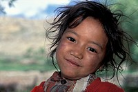 Girl, portrait, Dhankar, Spiti, Himachal Pradesh, Indian Himalayas, North India, India, Asia