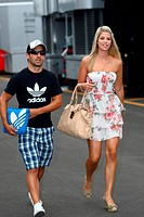 Timo Glock GER, Marussia Virgin Racing VR_02 and his girlfriend Isabell Reis