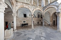 Rector's Palace, Pred Dvorom, old town of Dubrovnik, UNESCO World Heritage Site, central Dalmatia, Dalmatia, Adriatic coast, Croatia, Europe