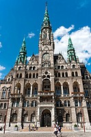 Town hall in Liberec, Czech Republic, Europe