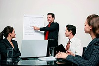 Businessman presenting his ideas in a meeting