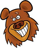 cartoon illustration of funny bear