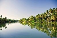 Kerala Backwaters.Kerala Backwaters near Allapuzha, Kerala, South India