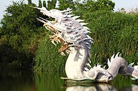 The China dragon, take photo from the Ancient City near Bangkok, Thailand.