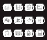 School and education icons _ vector icon set