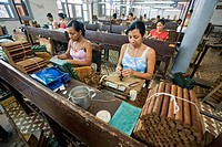 Some of more than 100 workers in the Fabrica de Tabaco Carlos Rodriguez Cariaga cigar factory, Ciego de Avila, Cuba, Central America
